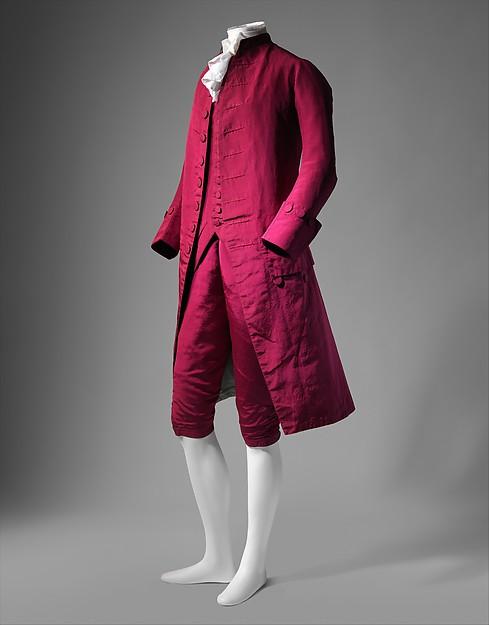 Một bộ suit thời kì 1770–80. Nguồn: The Metropolitan Museum of Art, New York.
